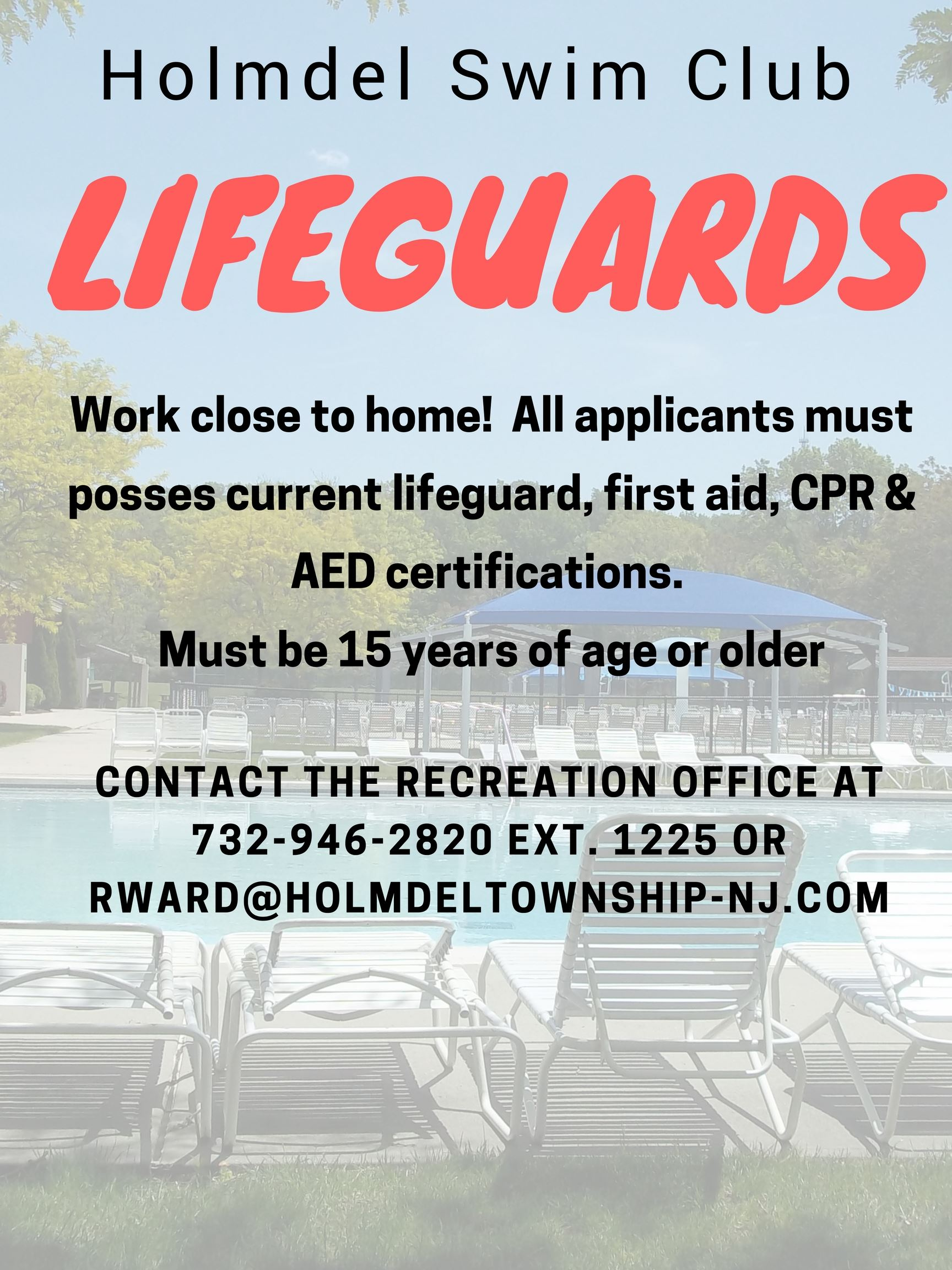 Lifeguards Want Ad